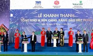 Khánh thành Tổng kho và bến cảng xăng dầu DKC Petro do Vietcombank tài trợ vốn