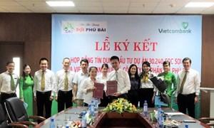 Vietcombank Huế và Công ty sợi Phú Bài ký hợp tác tín dụng