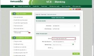 Vietcombank triển khai thanh toán hóa đơn cước viễn thông VNPT