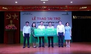 Vietcombank Nam Định tổ chức lễ trao tài trợ an sinh xã hội năm 2021