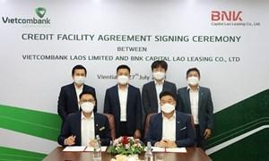 Vietcombank Lào tài trợ 10 triệu USD vốn tín dụng cho BNK Capital Lao Leasing Co.,LTD