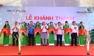 Vietcombank tài trợ 2 tỷ đồng xây Trạm y tế xã Yên Lương tỉnh Phú Thọ