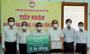 Vietcombank hỗ trợ tỉnh Trà Vinh 5 tỷ đồng phục vụ phòng, chống dịch COVID-19