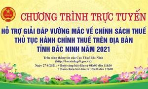 Ngày 27/8, Cục Thuế Bắc Ninh đối thoại trực tuyến với người nộp thuế