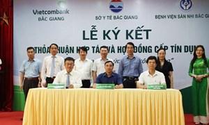 Vietcombank Bắc Giang hợp tác toàn diện cùng Sở Y tế Bắc Giang