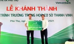 Vietcombank tài trợ 03 tỷ đồng xây dựng trường học tại Phú Thọ
