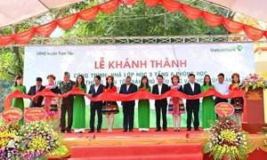 Vietcombank tài trợ 3 tỷ đồng xây trường học tại Yên Bái