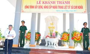 Khánh thành nâng cấp Nghĩa trang Liệt sỹ xã Cam Nghĩa