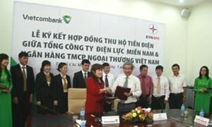 Vietcombank ký hợp tác thu tiền điện toàn miền Nam
