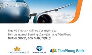 Mua vé Vietnam Airlines trực tuyến qua Internet Banking TienPhong Bank