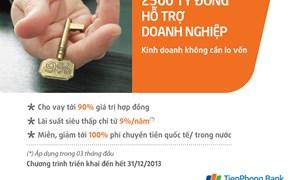 TienPhong Bank dành 2.500 tỷ tín dụng lãi suất thấp cho doanh nghiệp