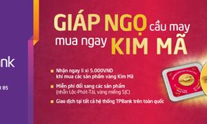 Mua vàng mỹ nghệ Kim Mã, nhận nhiều may mắn tại TPBank
