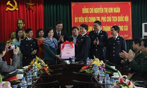 Phó Chủ tịch Quốc Hội Nguyễn Thị Kim Ngân làm việc với Hải quan Quảng Ninh