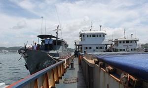 Hải quan Quảng Ninh bắt giữ 2 tàu vận chuyển lậu trên 5.000 tấn khoáng sản