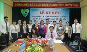 Vietcombank Quảng Ngãi tài trợ tín dụng cho dự án sản xuất gỗ