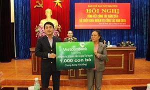 Vietcombank đồng hành cùng Chương trình xóa đói giảm nghèo