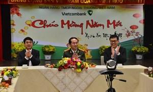 Bộ trưởng Bộ Công an thăm và chúc Tết tập thể lãnh đạo, cán bộ nhân viên Vietcombank