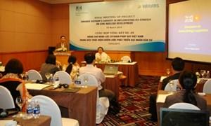 Nâng cao năng lực của cơ quan pháp quy hạt nhân Việt Nam