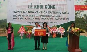 Vietcombank tài trợ xây  Nhà văn hóa tại Lạng Sơn