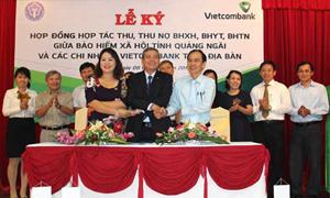 Vietcombank triển khai thu phí bảo hiểm tại Quảng Ngãi
