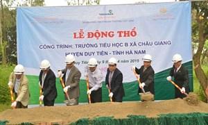 Vietcombank tài trợ xây trường học tại Hà Nam