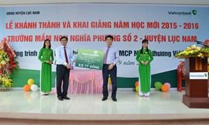 Vietcombank tài trợ xây trường học tại Bắc Giang