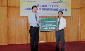 Vietcombank tặng 50 bộ máy tính cho Viện Cu Ba hữu nghị với các dân tộc