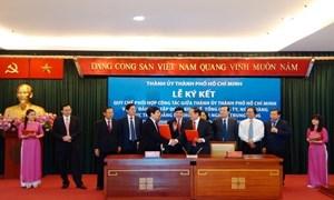 Thành ủy TP.Hồ Chí Minh và Vietcombank ký kết quy chế phối hợp công tác