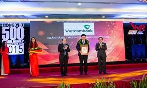 Vietcombank tiếp tục trong Top 50 Doanh nghiệp lớn nhất Việt Nam