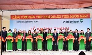 Vietcombank tài trợ 1,5 tỷ đồng xây trường học tại Bắc Giang