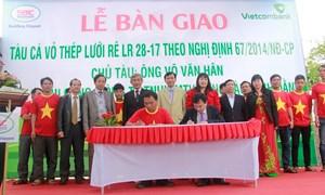Vietcombank Quảng Ngãi bàn giao tàu cho ngư dân