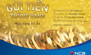 """NCB: """"Mùa vàng tri ân"""" – Gửi tiền trúng vàng"""