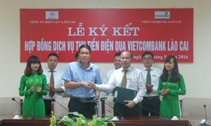 Vietcombank Lào Cai hợp tác cùng điện lực thu tiền điện