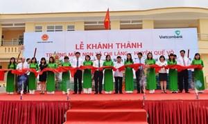 Vietcombank tài trợ xây dựng trường học tại Bắc Ninh