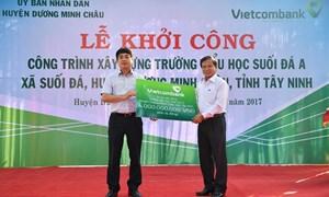 Vietcombank tài trợ xây trường học tại Tây Ninh