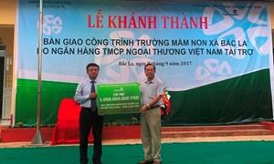 Vietcombank tài trợ xây dựng trường học tại Lạng Sơn