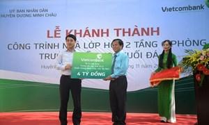 Vietcombank tài trợ 4 tỷ đồng xây trường học tại Tây Ninh