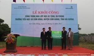 Vietcombank tài trợ hơn 5 tỷ đồng xây trường học tại Hải Dương