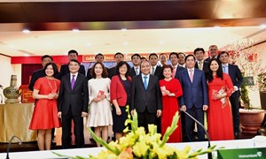 Thủ tướng Chính phủ Nguyễn Xuân Phúc chúc tết Vietcombank
