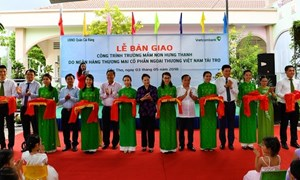 Vietcombank tài trợ 5 tỷ đồng xây trường học tại Cần Thơ