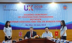 Tổng cục Hải quan và Cơ quan Bảo vệ Biên giới Anh ký Ý định thư hợp tác