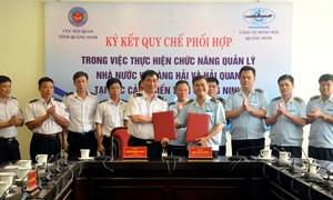Hải quan Quảng Ninh và Cảng vụ Hàng hải Quảng Ninh ký kết quy chế phối hợp