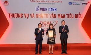 """Vietcombank được vinh danh  là """"Thương vụ tiêu biểu nhất thập kỷ"""""""