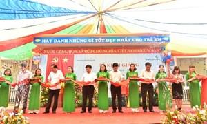 Khánh thành trường học tại Lạng Sơn do Vietcombank tài trợ 3 tỷ đồng