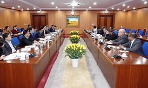 Thứ trưởng Trần Xuân Hà làm việc với Quyền trợ lý Bộ trưởng Tài chính Hoa Kỳ