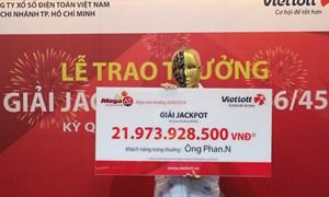 Chọn vé theo ngày sinh người thân, khách hàng TP. Hồ Chí Minh trúng 21,9 tỷ đồng