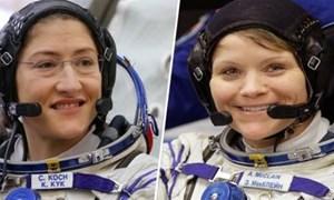 Lần đầu tiên nhóm thám hiểm vũ trụ chỉ toàn nữ