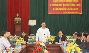 Bộ trưởng Đinh Tiến Dũng thăm và làm việc tại Chi Lăng, Lạng Sơn