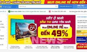 Siêu thị điện máy giảm giá sâu, kích cầu mua sắm online