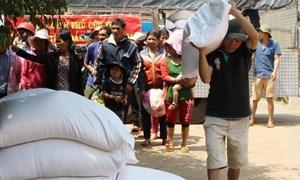 Xuất cấp 1.162,08 tấn gạo hỗ trợ nhân dân 2 tỉnh Đắk Nông và Đắk Lắk